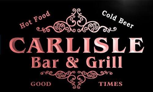 u07037-r CARLISLE Family Name Bar & Grill Cold Beer Neon Light Sign Barlicht Neonlicht Lichtwerbung - Carlisle Bar