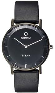 Titan Obaku Analog Black Dial Men's Watch 9451NL01