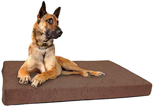 Schecker Dog Ortho Orthopädisches Hundebett inkl. 2 weiche Frotte-Bezüge (Wechselbezug) Thermo-isolierend Anti-Rutsch-Boden nässebeständig, Maschinenwaschbar und Trockner-beständig bis 40C°