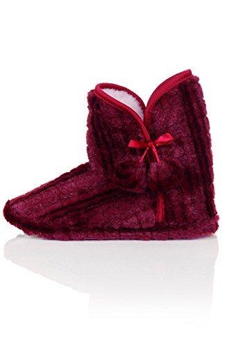 Pantofole Da Donna In Eco Pelliccia Caldo E Confortevole Con Cinturini Alla Caviglia