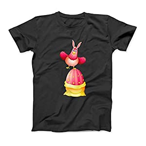 Big Osterei Huhn Häschen-Ohren Lustige glückliche Ostern-Tag T-Shirt SweatshirtHoodie Tank Top für Männer Frauen Kinder