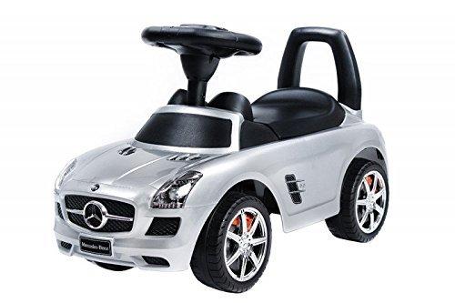Spingere - Giocattolo da tirare - Baby car - Auto per bambini BSD Mercedes SLS AMG 332 Argento Ride-On giocattolo