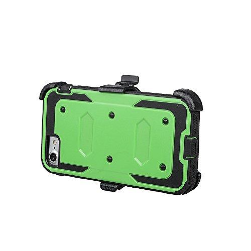 """xhorizon FM8 Eingebaut Schützender Stoßdämpfer Heavy Duty Schutz Schockreduzierung/Stoßstang Case für Apple iPhone 7 [4.7""""] (Blau) Cyan Mit einem 9H gehärtetem Glasfilm"""