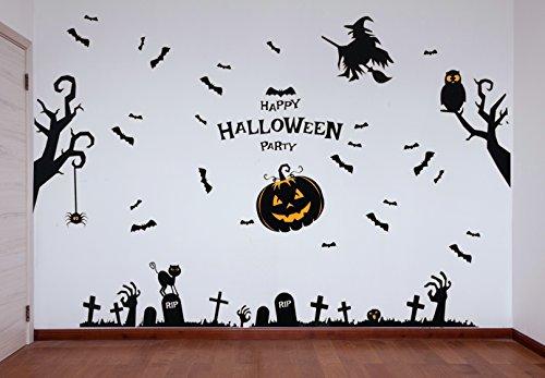 29 Posters Pegatinas de Pared Halloween - Set de Calcomanías de PVC para Decoración Mural - Accesorio para Fiesta de Disfraces de Hogar y Oficina - Apoyo Adorno de Figuras Decorativas