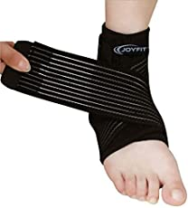 JoyFit - Adjustable Ankle Support with Elastic Wrap for Plantar Fasciitis, Swollen Feet, Pain Relief for Men and Women