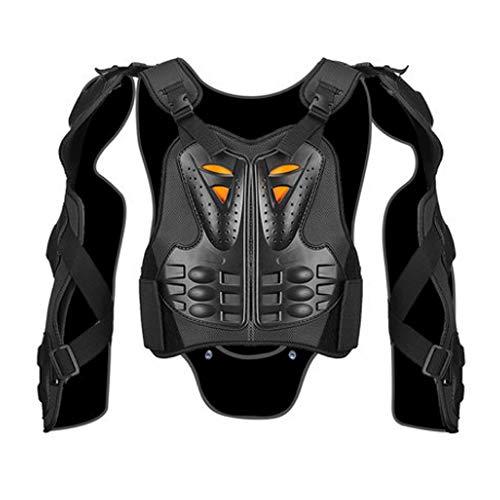NCBH Motorrad-Schutzjacke, Motocross-Rüstung Anti-Kollisions- und bruchsicherer Chest Protector-Anzug Weste Rüstung Schutzausrüstung schwarz,L