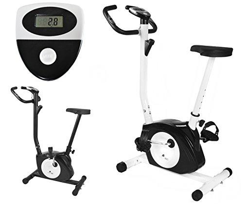 Heimtrainer Magnetische (Heimtrainer Magnetisch Fahrrad Fahrradtrainer Ergometer Fitnessgerät Stepper Neu #5688, Farbe:Weiß)