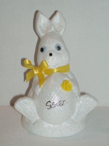 Sorella Bianco Coniglio di Pasqua Outdoor commemorativa ornamento (giallo (Easter Bunny Ornamento)