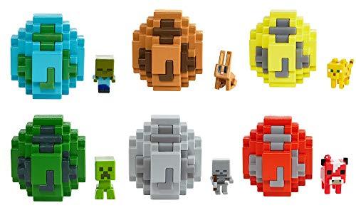 Mattel Minecraft FMC85 - Mini-Figuren Spawn-Ei Sortiment