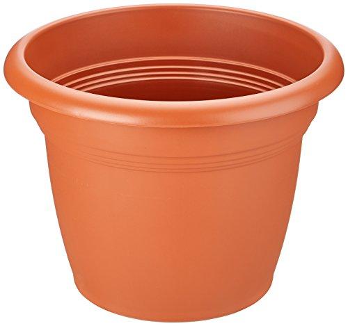 stefanplast vaso plastica tondo colore coccio diametro 45