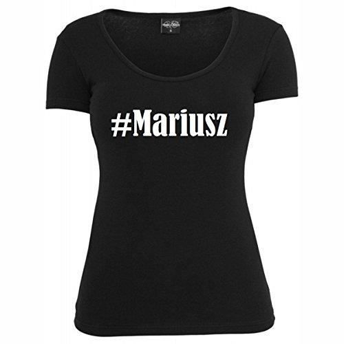 T-Shirt #Mariusz Hashtag Raute für Damen Herren und Kinder ... in den Farben Schwarz und Weiss Schwarz