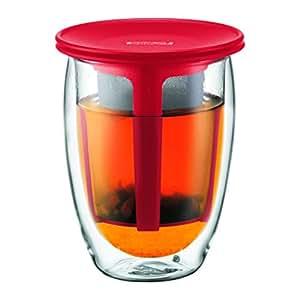 Bodum - K11153-294 - Tea For One - Set Infuseur Double Paroi - Filtre Plastique - 0.35 L