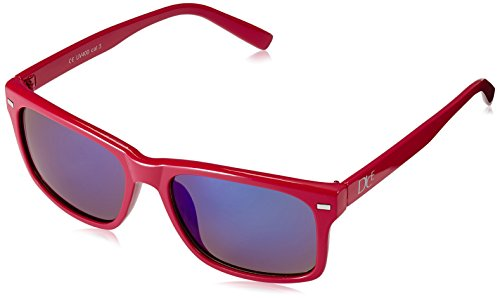 Dice Unisex Sonnenbrille, shiny red/blue revo, one size, ()