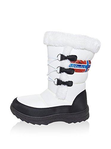 NEBULUS stivali invernali VIKTORIA, stivali, stivali (W166) Bianco (nero-bianco)