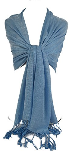 GFM Fastglas Foulard doux Shawl. Strass Soiree Mariage, demoiselles d'honneur Style 1 Seconds Light Blue 3 (#hlnl3)