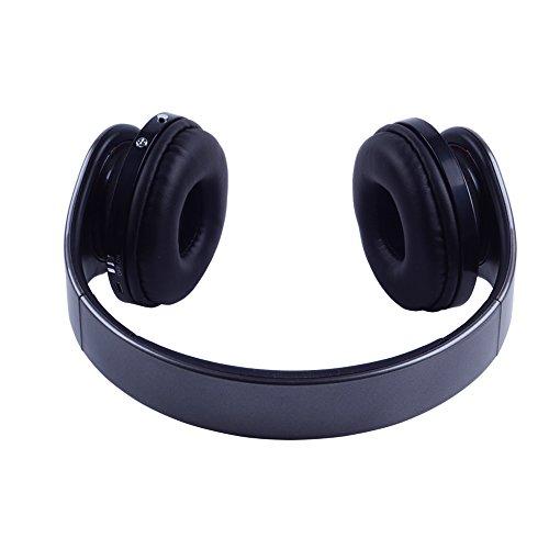 Top-Longer Bluetooth 3.0 EDR Tiefe Bass Wireless Stereo Bluetooth Kopfhörer Noise Cancelling Kopfhörer mit Mic,Unterstützungs TF Karte, FM Radio. Gray - 5