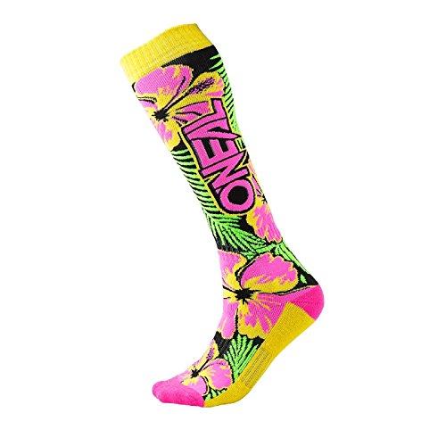 O'Neal Pro MX Knie Socken Island Pink Grün Gelb Strümpfe Motocross Enduro Offroad Downhill, 0356-731