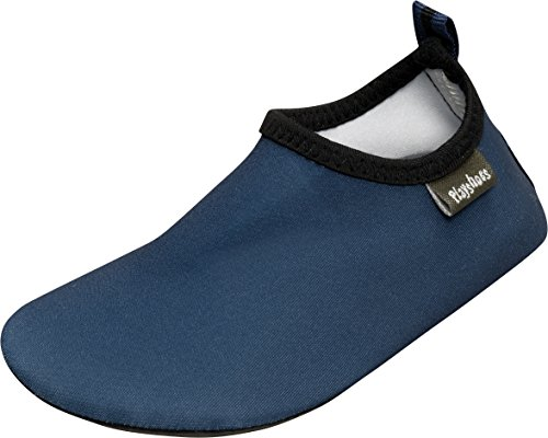 Playshoes Unisex-Kinder Badeslipper, Badeschuhe Uni Aqua Schuhe Blau (Marine) 20/21 EU