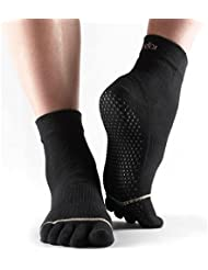 Atipick Toesox - Calcetines unisex, color negro, talla 39-42.4