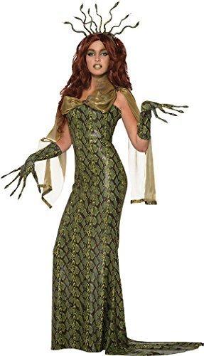 onlyglobal Damen Halloween Kostüm Party Deluxe Medusa Kostüm Outfit UK Größe - Halloween-kostüme Damen Größe 10-12