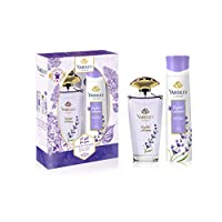 Yardley English Lavender perfumed gift set, Floral aromatic freshness, relaxing and calming scent, Eau De Toilette 125ml + Body Spray 150ml
