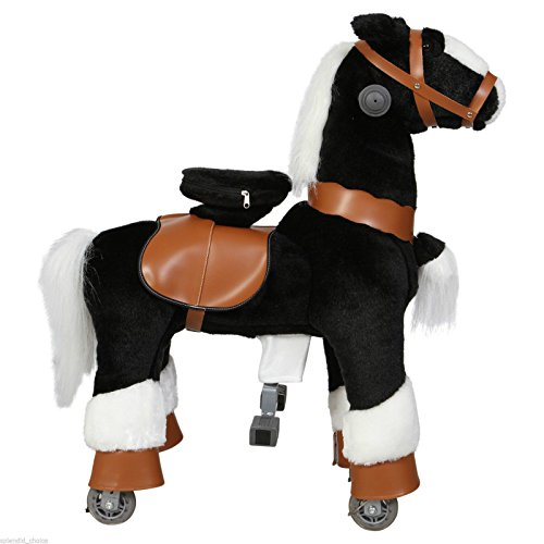 Ride on Horse Cycle Toy Small Mechanical Walking Pony Bounce up and down & Move (Age Group 3 year to 5 year ) (Black)