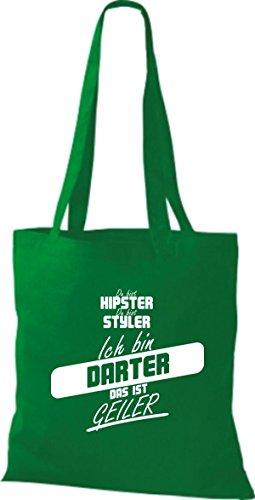 Shirtstown Stoffbeutel du bist hipster du bist styler ich bin Darter das ist geiler kelly