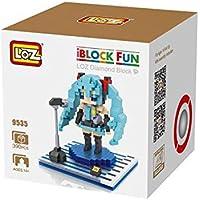 LOZ Hatsune Miku Blue Juego de Nanobloques de Construcción de Diamante Para Niños y Rompecabezas 3D para Adultos con Caja Opcional con Divertido Juego Educativo iBlock Para Niños.