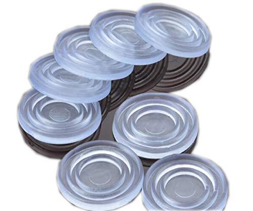 Tischplatte aus klarem Glas, weiches Material, zur Steuerung der Bewegung der Tischplatte aus Glas. Kunststoffstoßstange für Tischgummipuffer, Glastischsauger (2 * 24mm), 25Count. -