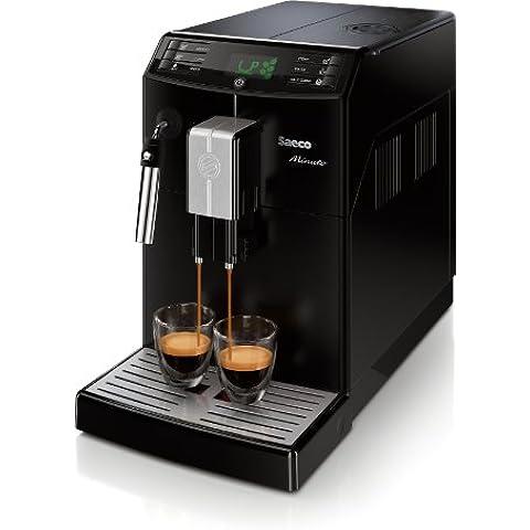 Saeco Minuto - Cafetera espresso super automática, con espumador de leche clásico, color negro (importada)