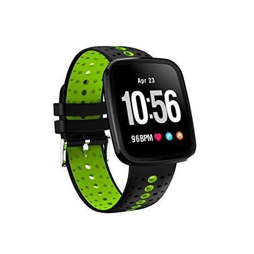 FromPRO V6HD-Bildschirm, Fitness Tracker, Smartwatch OLED Herzfrequenz Blutdruckmessgerät Smart Watch Sport Smart Watch Armband, grün