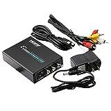 HDMI zu Composite AV + S-Video Konverter Umschalter Adapter DVD Full HD 1080P RCA CVBS/L / R Video Converter Tools - Schwarz