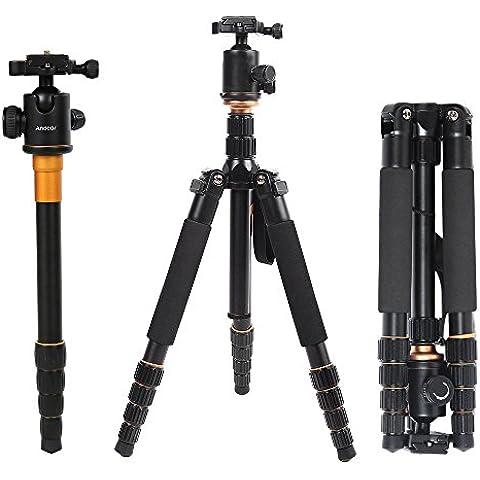 Pro Q-666 Portable SLR Camera Tripod Monopiede Testa a Sfera