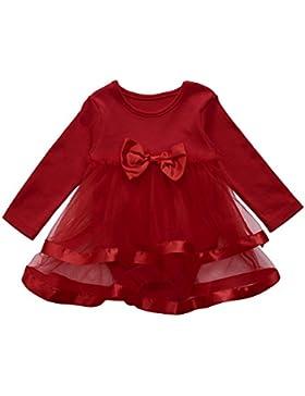 Huhu833 Baby Kleid Baby Mädchen Infant Blumenspitze Geburtstag Tutu Kleidung Party Prinzessin Kleid