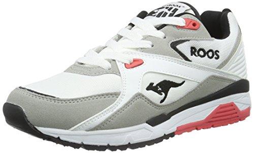 KangaROOS Unisex-Erwachsene Runaway Roos 001 Low-Top Mehrfarbig (white/salmon 063)