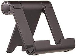 AmazonBasics Tragbarer Ständer mit verstellbarem Betrachtungswinkel für Tablets, E-Reader und Handys - Schwarz