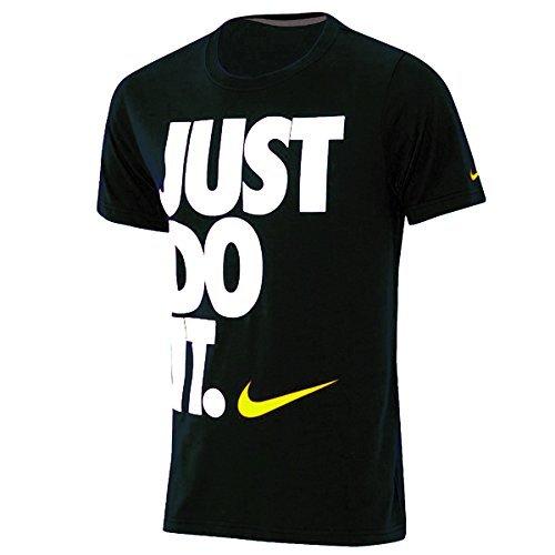 Nike Just Do It Slim Fit T-Shirt, Tee, maglietta, Unisex - nero, M