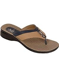 Paragon Women Blue Comfortable Sandal Slipper