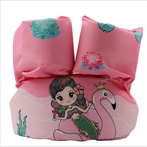 FDGT Pink Meerjungfrau Kinder Schwimen Armkreis Toddler Baby Schwimmgetriebe Schwimmende Kreis Blase Mu Sleeves Schwimmweste
