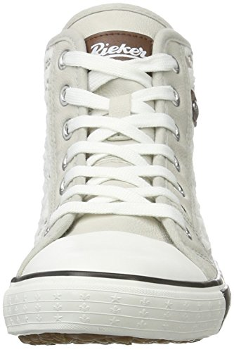 Rieker Damen Y2218 High-Top Weiß (ice/kreide-grey/brown/argento / 80)