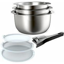 Backen 401199 - Set de casseroles - 7 Pièces - inox 18/10 - Tous Feux dont Induction