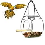 Weehey Weehey Vogelhäuschen Hängepapagei Futterhäuschen Futterhäuschen für Vögel Outdoor-Futterhäuschen Wasserdichtes Acryl-Futterhäuschen für Vögel