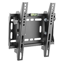 RICOO TV Wandhalterung N4222 Universal für 23-42 Zoll (ca. 58-107cm) Neigbar Super Flach Wand Halter Aufhängung Fernseh Halterung auch für Curved LCD und LED Fernseher   VESA 75x75 200x200 Schwarz