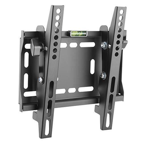 RICOO TV Wandhalterung N4222 Universal für 23-42 Zoll (ca. 58-107cm) Neigbar Super Flach Wand Halter Aufhängung Fernseh Halterung auch für Curved LCD und LED Fernseher | VESA 75x75 200x200 Schwarz