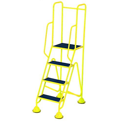 Praktische Panda ws514_ Gelb Fort Kuppel Füße 4Schritt mit Full Handlauf in Anti-Rutsch Trittflächen, gelb