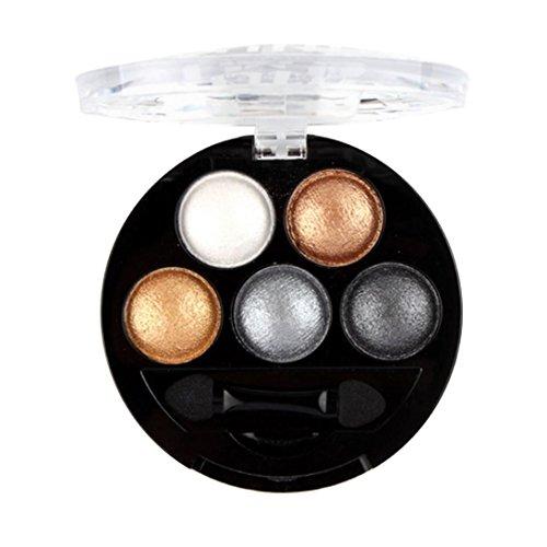 Lidschatten 5 Farben Palette SOMESUN Wasserfestes Makeup Pigment Lidschatten Highlight 2017 (#6)