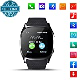 Bluetooth Smart Watch, DXABLE Smartwatch Telefon mit Kamera Musik Player Facebook WhatsApp Sync SMS Armbanduhr Unterstützung SIM TF Karte für iPhone 7 8 7 Plus 6 Samsung S8 Android oder iOS Smartphones