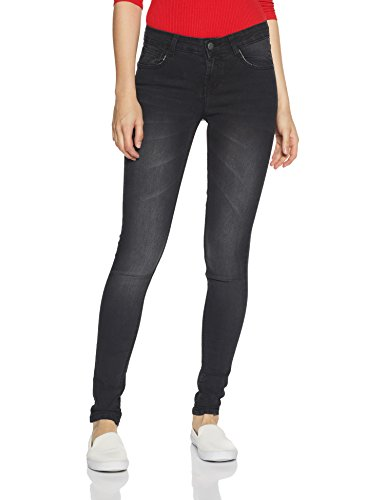 Newport by Unlimited Women's Skinny Jeans (274145936_BLACK_32_IN-30) 6