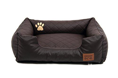 Hundebett Hundesofa Hundekissen abnehmbarer Bezug, pflegeleicht, abwaschbar Steppy Braun 90x70cm