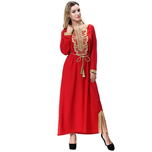 Lazzboy Muslim Arabische Mittlere Osten Schnür-lätzchen Langen ärmeln Schnürung Abaya Dubai Kleider Frauen Islamischen Kleid Islamische Muslimische Kaftan Rayon - Baby Hitler Kostüm
